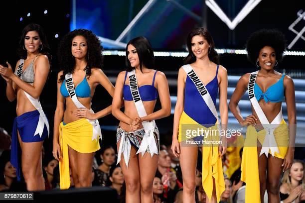 Miss Spain 2017 Sofia del Prado Miss Brazil 2017 Monalysa Alcantara Miss Colombia 2017 Laura Gonzalez Miss Thailand 2017 Maria Poonlertlarp and Miss...