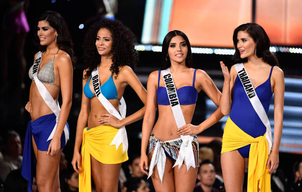 Miss Spain 2017 Sofia del Prado Miss Brazil 2017 Monalysa Alcantara Miss Colombia 2017 Laura Gonzalez and Miss Thailand 2017 Maria Poonlertlarp are...