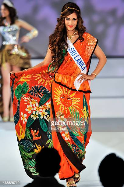 Miss Sri Lanka Tamara Makalanda competes during The 54th Miss International Beauty Pageant 2014 at Grand Prince Hotel New Takanawa on November 11...
