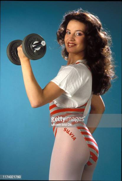 Silvia Affolter with dumbbell