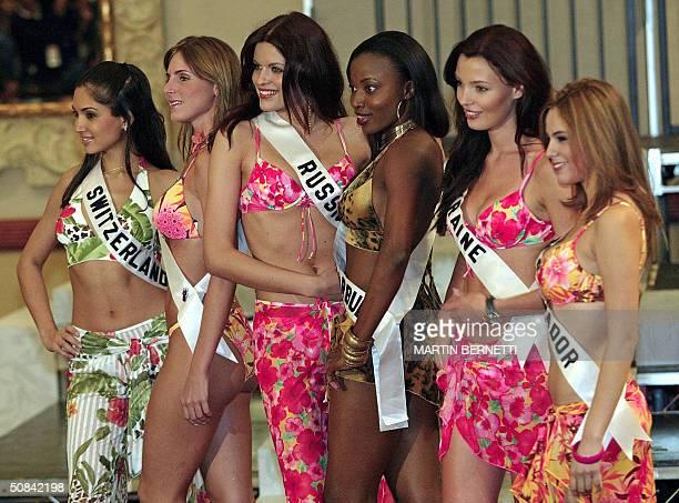 Miss Switzerland Bianca Sissing Miss Panama Jessica Rodriguez Miss Russia Ksenia Kustova Miss Antigua Barbuda AnnMarie Browne Miss Ukraine Oleksandra...