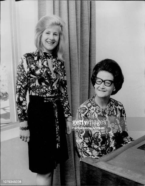 Miss Sylvia Wade who has won a Churchill Fellowship with her singing teacher Elizabeth Tedd at the Conservatorium of Music May 11 1973