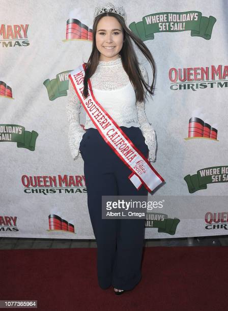 Miss Teen Southern California Alyssa Johnson attends the Queen Mary Christmas Media VIP Night held on November 26 2018 in Long Beach California