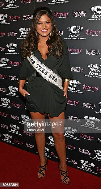 Miss Teen USA 2007 Hilary Cruz arrives at the Fashion Rocks the Universe fashion show at the Hawaiian Tropic Zone inside the Planet Hollywood Resort...