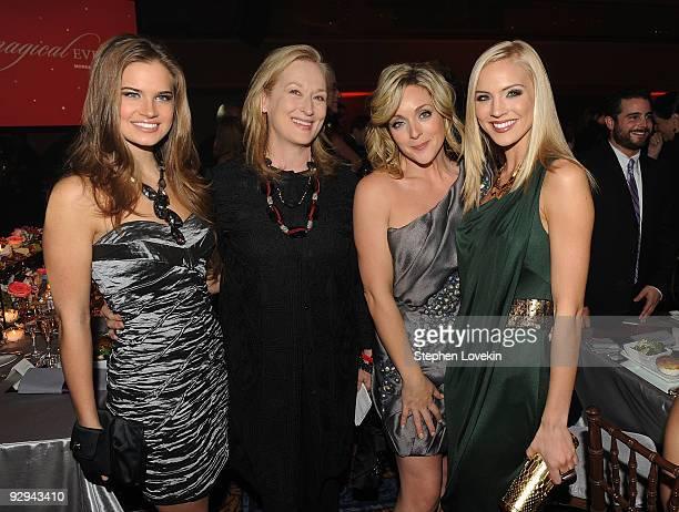 Miss Teen USA 2009 Stormi Henley actress Meryl Streep actress Jane Krakowski and Miss USA 2009 Kristen Dalton attend The Christopher and Dana Reeve...
