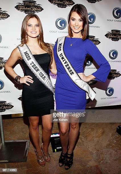 Miss Teen USA 2009 Stormi Henley and Miss Universe 2009 Stefania Fernandez attend a screening of 'Donald J Trump's Fabulous World Of Golf' at Trump...