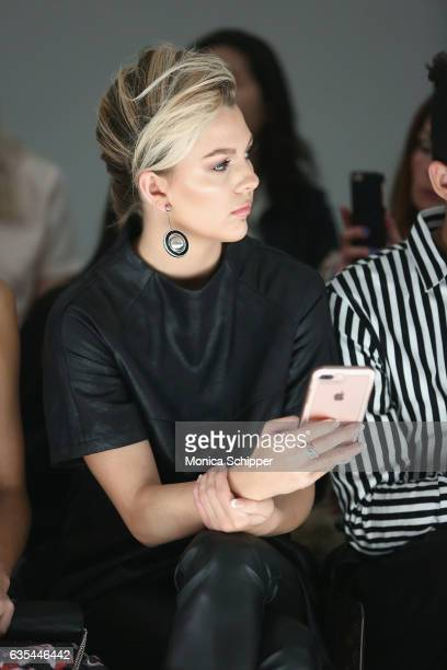 Miss Teen USA 2016 Karlie Hay attends Fashion Hong Kong Fall/Winter 2017 during New York Fashion Week The Shows at Gallery 3 Skylight Clarkson Sq on...