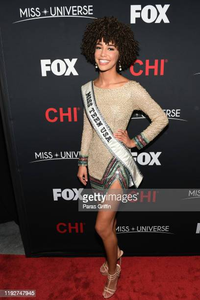 Miss Teen USA 2019 Kaliegh Garris attends the 2019 Miss Universe Pageant at Tyler Perry Studios on December 08 2019 in Atlanta Georgia