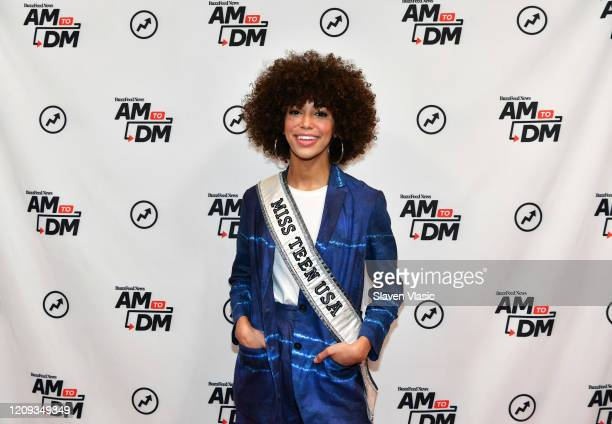 Miss Teen USA 2019 Kaliegh Garris visits BuzzFeed's AM To DM on February 28 2020 in New York City