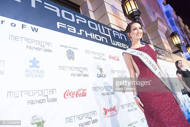 Miss Teen USA Athenna Crosby arrives at the Metropolitan Fashion Week 2016 Closing Gala And Fashion Awards at Warner Bros Studios on October 1 2016...