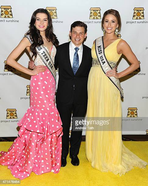 Miss Teen USA K Lee Graham Project Sunshine founder Joseph Weilgus and Miss USA Nia Sanchez attend Project Sunshine's 12th Annual Benefit Celebration...