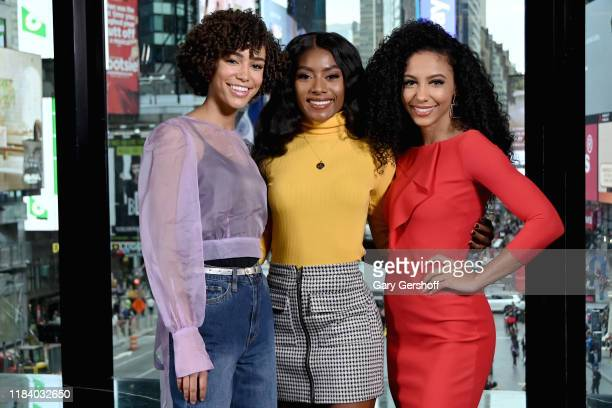 Miss Teen USA Kaliegh Garris Miss America Nia Franklin and Miss USA Cheslie Kryst visit Extra at R Lounge at the Renaissance Hotel on October 28 2019...