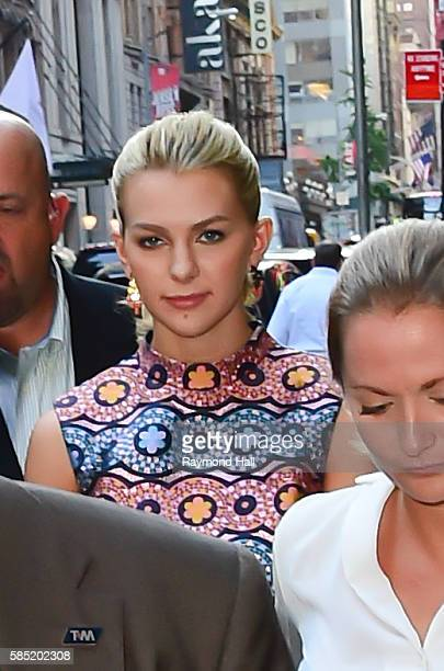 Miss Teen USA Karlie Hay is seen on set of Good Morning America on August 2 2016 in New York City