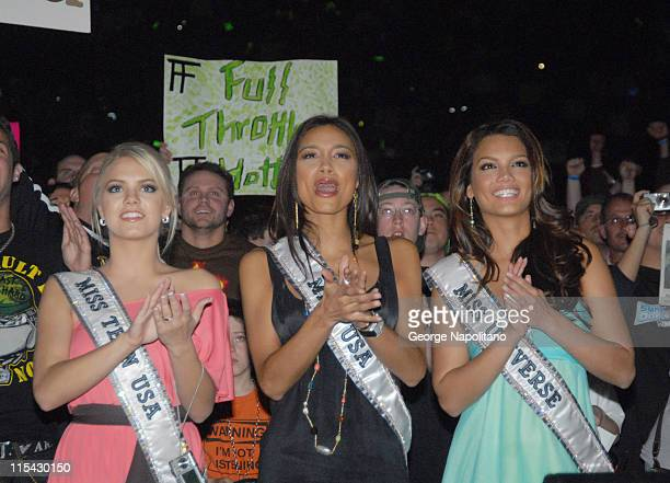 Miss Teen USA Katie Blair Miss USA Rachel Smith Miss Universe Zuleyka Rivera