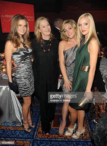 Miss Teen USA Stormi Henley actress Meryl Streep actress Jane Krakowski and Miss USA Kristen Dalton attend the Christopher Dana Reeve Foundation 19th...