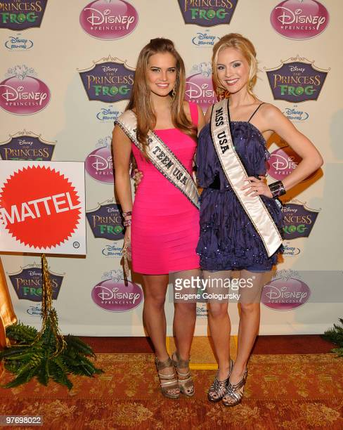 Miss Teen USA Stormi Henley and Miss USA Kristen Dalton attend Princess Tiana's official induction into the Disney Princess Royal Court and 'The...