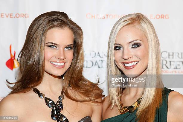 """Miss Teen USA Stormi Henley and Miss USA Kristen Dalton attend the Christopher & Dana Reeve Foundation's """"A Magical Evening"""" Gala at the Marriot..."""