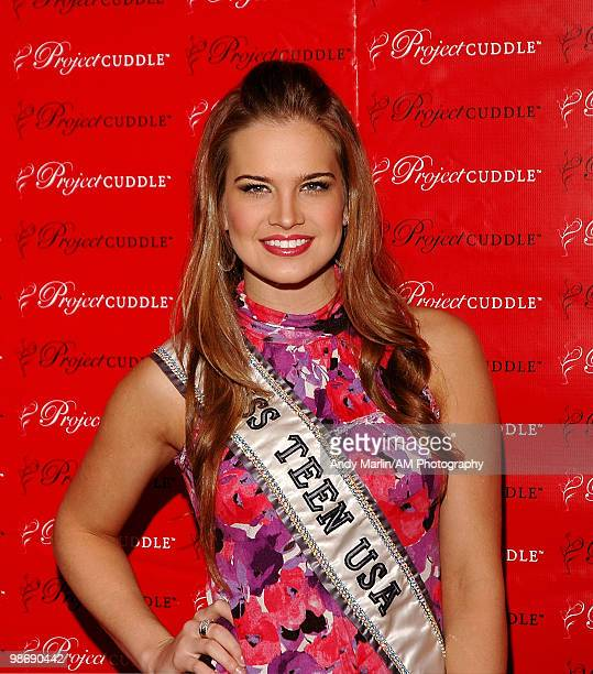 Miss Teen USA Stormi Henley poses for a photo during Project Cuddle Awareness Event to raise awareness to stop baby abandonment at Carnival at Bolmor...