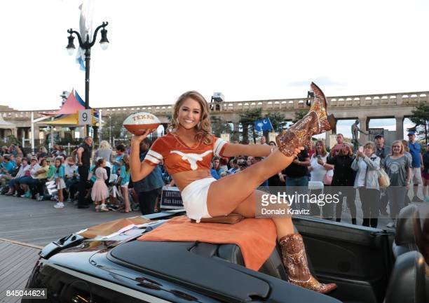 Miss Texas 2017 Margana Wood participates during Miss America 2018 Show Me Your Shoes Parade on September 9 2017 in Atlantic City New Jersey