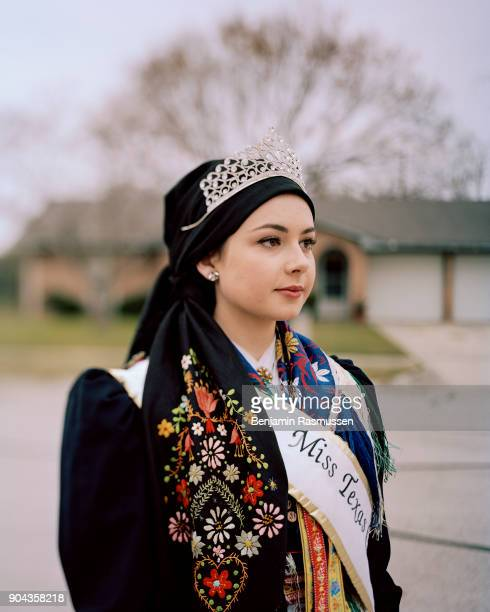Miss Texas CzechSlovak 20162017 Monika Cavanagh poses for a portrait outside of her house in Flatonia Texas on December 15 2016 When citizenship was...
