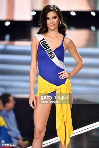 Miss Thailand 2017 Maria Poonlertlarp is named a top 10 finalist during the 2017 Miss Universe Pageant at The Axis at Planet Hollywood Resort Casino...