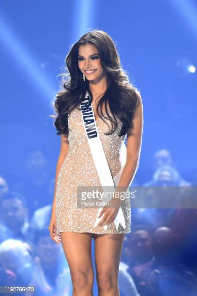 Miss Thailand Paweensuda Drouin appears onstage at the 2019 Miss Universe Pageant at Tyler Perry Studios on December 08 2019 in Atlanta Georgia