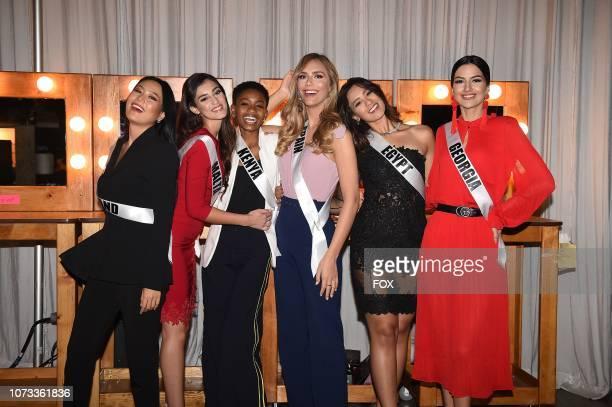 Miss Thailand Sophida Kanchanarin Miss Malta Francesca Mifsud Miss Kenya Wabaiya Kariuki Miss Spain Angela Ponce Miss Egypt Nariman Khaled and Miss...