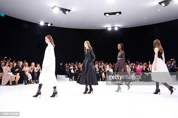 Miss Thierry Breton French minister of Culture and Communication Fleur Pellerin Owner of LVMH Luxury Group Bernard Arnault his wife Helene Arnault...