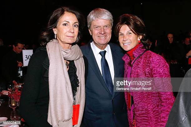 Miss Thierry Breton Yves carcelle and Sylvie Rousseau attend the 'Nuit De La Chine' Opening Night at Grand Palais on January 27 2014 in Paris France