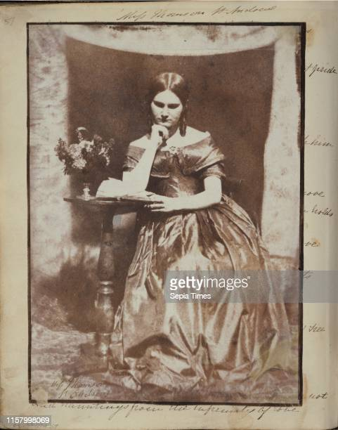 Miss Thomson of St Andrews Dr John Adamson Scottish 1810 1870 Scotland Europe about 1845 Salted paper print from a Calotype negative Image 198 x 143...