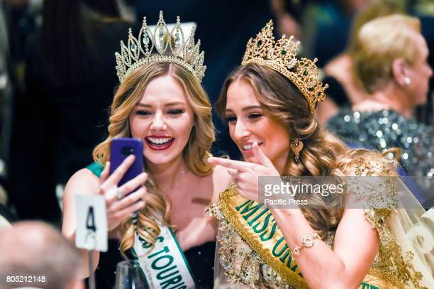 PARK SYDNEY NSW AUSTRALIA Miss Tourism Global 2016 Tasha Ross and Miss Grand International 2015 Claire Parker spotted at the Miss Grand Australia...