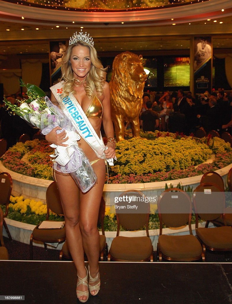 Miss TropicBeauty 2013 Linda Zimany of Hungary appears at the third annual TropicBeauty World Finals at the MGM Grand Hotel/Casino on March 2, 2013 in Las Vegas, Nevada.