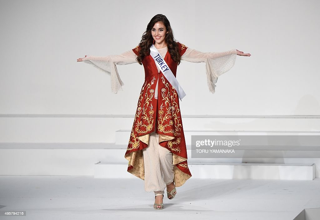 Miss Turkey Berfu Yildiz displays her national costume during the Miss International beauty pageant in Tokyo  sc 1 st  Getty Images & Miss Turkey Berfu Yildiz displays her national costume during the ...