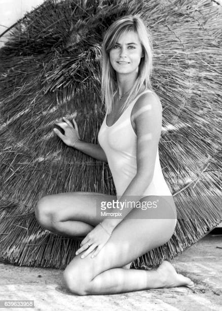 Miss UK, Della Dolan, aged 20 from Grimsby, prepares for next months MIss World contest at a Marbella hideaway. 25th October 1982.