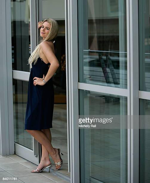 Miss UK Laura Coleman poses on the day before the 58th Miss World Final at Sandton Convention Centre on December 12, 2008 in Johannesburg, South...