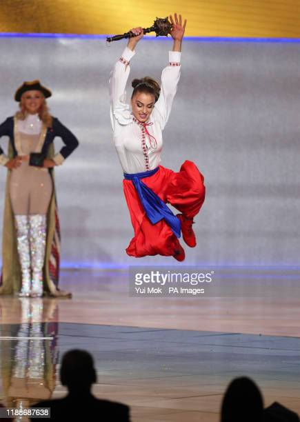 Miss Ukraine 2019 during the 69th Miss World annual final at the ExCel London