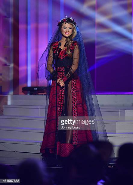 Miss Ukraine Diana Harkusha participates in 63rd Annual MISS UNIVERSE Preliminary Show and National Costume Show at Florida International University...