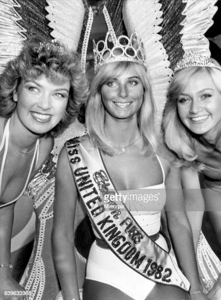 Miss United Kingdom 1982 Della Dolan with Miss Belfast Alison Smith and Miss Chichester Anne Jackson. 25th August 1982.