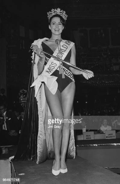 Miss United Kingdom Ann Sidney after being crowned Miss World 1964 at the Lyceum Ballroom in London 12th November 1964