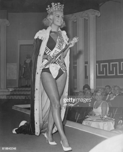 Miss United Kingdom Lesley Langley wins the Miss World 1965 contest at the Lyceum Ballroom in London 19th November 1965