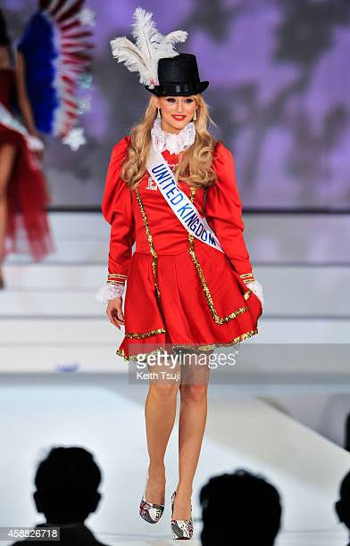 Miss United Kingdom Victoria Charlotte Tooby competes during The 54th Miss International Beauty Pageant 2014 at Grand Prince Hotel New Takanawa on...