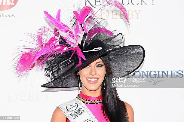 Miss United States 2014 Elizabeth Safrit attends the 141st Kentucky Derby at Churchill Downs on May 2 2015 in Louisville Kentucky