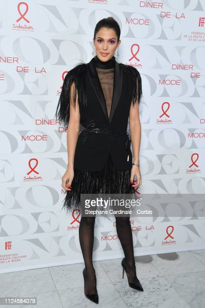 """Miss Univers 2016 Iris Mittenaere attends the 17th """"Diner De La Mode"""" as part of Paris Fashion Week on January 24, 2019 in Paris, France."""