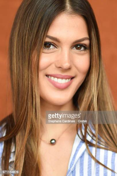 Miss Univers 2016 Iris Mittenaere attends the Men Final of the 2018 French Open Day Fithteen at Roland Garros on June 10 2018 in Paris France