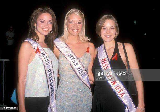 Miss Universe 2001 Denise Quinones Miss USA 2001 Kandace Krueger and Miss Teen USA 2000 Jillian Parry attend the 10th Annual Boathouse Rock Dance...
