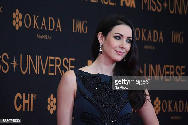 Miss Universe 2005 Natalie Glebova attends a red carpet event a day before the Miss Universe 2017 pageant in Pasay City south of Manila Philippines...