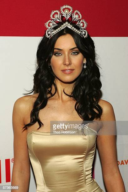 """Miss Universe 2005, Natalie Glebova attends """"Universal Beauty: The Miss Universe Guide To Beauty"""" Launch at Trump Tower on April 18, 2006 in New York..."""