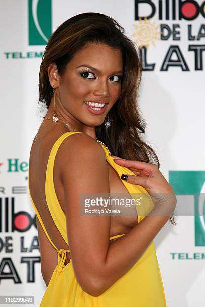 Miss Universe 2006 Zuleyka Rivera during Billboard Latin Music Conference and Awards 2007 Press Room at Bank United Center in Coral Gables Florida...