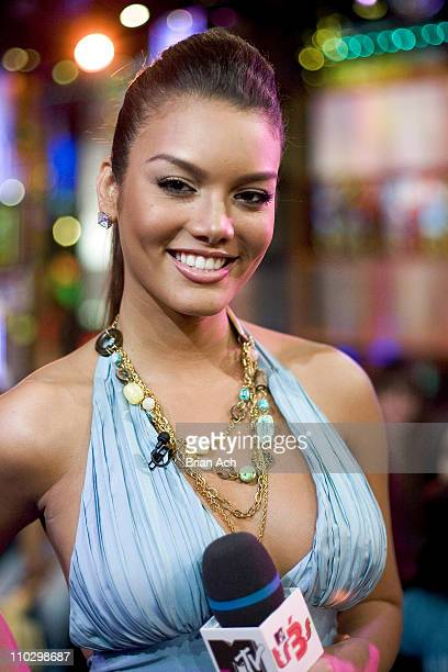 Miss Universe 2006 Zuleyka Rivera during Miss Universe 2006 Zuleyka Rivera and Adassa Visit MTV's 'Mi TRL' April 17 2007 at MTV Studios in New York...