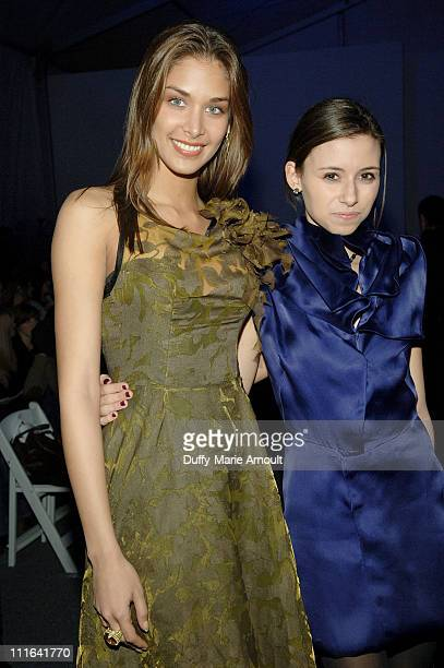 Miss Universe 2008 Dayana Mendoza and actress Remy Geller attend Akiko Ogawa Fall 2009 during MercedesBenz Fashion Week at The Salon in Bryant Park...